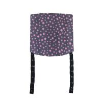 MaMo Kopfstützen Webstoff rosa Sterne auf grau