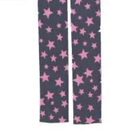 Blenden Poplin grau / rosa Sterne