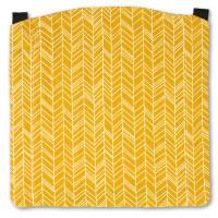 MaMo Kopfstütze Webstoff Geo Pfeile Gelb