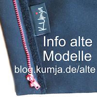 Rote Reißverschlüsse = altes Kumja Modell