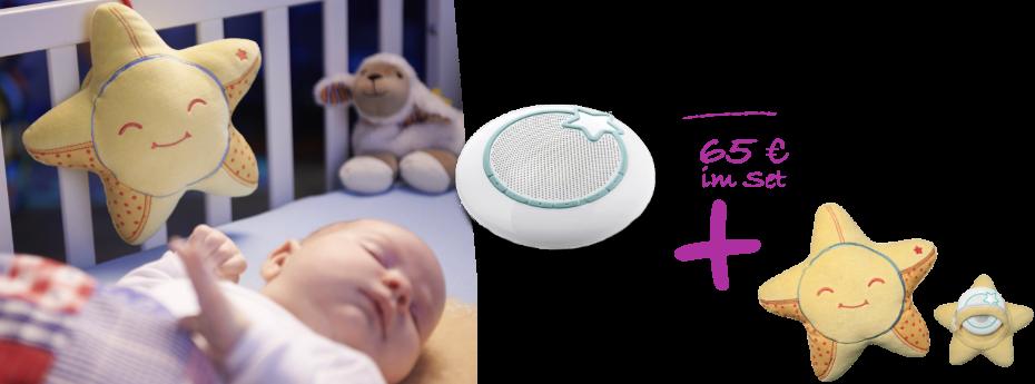Babyphone, Spieluhr und MP3-Player - jetzt inkl. Kuschelhülle